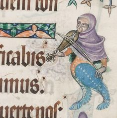 It's World Fiddle Day! This may not strictly be a fiddle - I believe it's a rebec - but it'll do. It's from the wonderful Luttrell Psalter at the British Library, which you can view online in their digitised manuscripts collection. #worldfiddleday #rebec #musician #medievalinstruments #medieval #medievalmusic #luttrellpsalter #psalter #manuscript #historiana