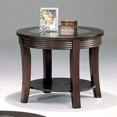 Coaster Fine Furniture Cappuccino Round End Table 5524