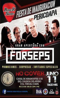"""""""Rock Son""""  Villa Coapa- gran apertura con """"Forseps"""""""