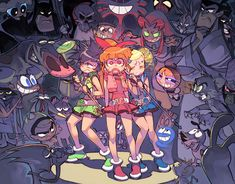 Tags: Anime, Fanart, Power Puff Girls Z, Batman, Goutokuji Miyako