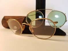 f4b1560f6f0b Vintage B L 1 10 FUL-VUE 12K Gold Filled glasses and snap on sunglasses   fashion  clothing  shoes  accessories  vintage  vintageaccessories (ebay  link)