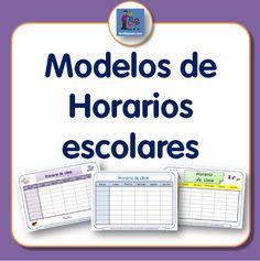 Diferentes modelos de horario escolar para descargar e imprimir. Plantillas con…