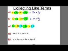 GCSE Revision Video 1 - Collecting Like Terms - YouTube