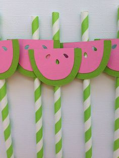 A personal favorite from my Etsy shop https://www.etsy.com/listing/547975923/watermelon-paper-straws-pink-and-light