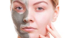 young woman applying clay mask on her face. girl taking care of Dry Face, Face Wash, Natural Face, Natural Skin Care, Acne Moisturizer, Best Foundation, Skin Care Remedies, Clay Masks, Young Women