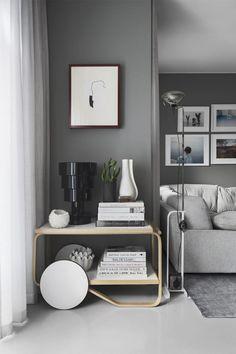 54 Ideas For Living Room Decor Scandinavian Grey Sofas Interior Design Grey Walls Living Room, Coastal Living Rooms, Home Living, Living Room Modern, Living Room Designs, Gray Walls, Small Living, Interior Rugs, Home Interior