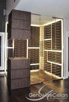 Glass-Enclosed | Wine Cellar | Dream Home | Luxury | Wine www.genuwinecellars.com