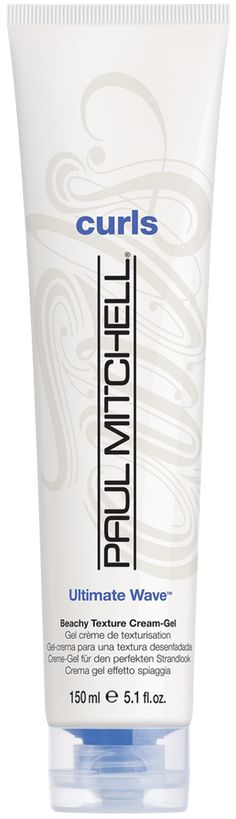 OVERVIEW Paul Mitchell ultimate wave beachy texture cream-gel forms, separates and adds loads of texture to create sexy, tousled beach waves. - Soothing and smoothing mushroom extract fights frizz - H