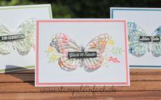 stempel einfach: mit Schmetterlingen...