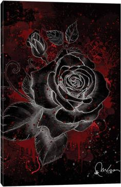 Black Wallpaper: Black Rose Art Print by Marine Loup:: Black wallpaper is an android app for phon… Black Roses Wallpaper, Gothic Wallpaper, Dark Wallpaper, Cute Wallpaper Backgrounds, Flower Backgrounds, Flower Wallpaper, Iphone Backgrounds, Iphone Wallpapers, Beautiful Rose Flowers