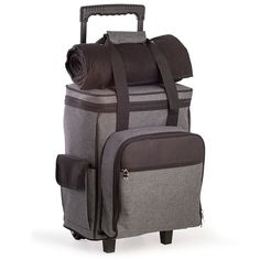 Men's Bey-Berk Canvas Picnic Trolley, Grey