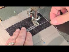 Learn how to make nice bound buttonhole for high quality garment and give a special touch to your work. This demonstration is complete from the pattern to th. Sewing Tools, Sewing Hacks, Sewing Tutorials, Sewing Projects, Sewing Patterns, Sewing School, Sewing Needles, Sewing Lessons, Couture Sewing