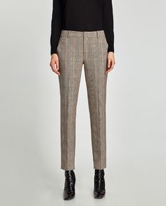 Image 3 of CHECKED CHINO TROUSERS from Zara