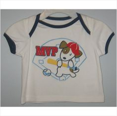 Infant boys MVP dog shirt,Size-3/6 months