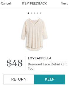 Loveappella Bremond Lace Detail Knit Top
