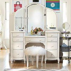 Bedroom vanities vanities for bedrooms amp girls vanities pbteen