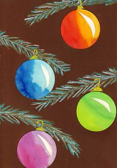 Christbaum-Kugeln Winter Art Projects, Projects For Kids, Crafts For Kids, Christmas Art, Christmas Bulbs, Rock Decor, Elements Of Art, Christmas Activities, Art Activities