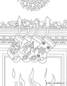 Christmas Morning Coloring Pages Hand Embroidery