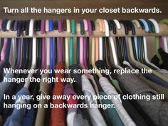 I've been doing this for sometime. Out of all the clothes I have I seem to wear the same things all the time : (