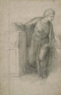 Michelangelo Buonarroti, 1475-1564, Italian, Virgin Annunciate, 1530.  British Museum.   High Renaissance.