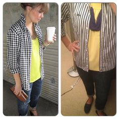 Button Up Shirt-Goodwill Yellow Top-Calvin Klein Outlet Jeans-Gap Outlet Navy Toms