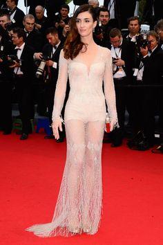 Paz Vega wearing Roberto Cavalli at 66th annual Cannes Film Festival.