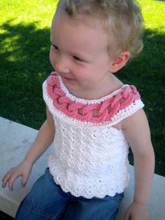 Summer Rings Crochet Top for Girls