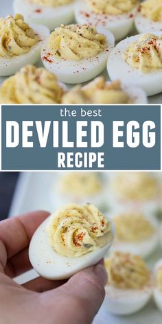 You can't beat a classic, and this really is the Best Deviled Egg Recipe. A little bit sweet, a little bit sour - these are perfect for your next party or potluck. Eggs The Best Deviled Egg Lunch Snacks, Healthy Snacks, Low Carb Appetizers, Appetizer Recipes, Yummy Appetizers, Egg Recipes, Cooking Recipes, Easter Recipes, Cooking Ideas