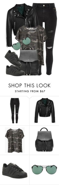 """On The Edge"" by monmondefou ❤ liked on Polyvore featuring River Island, Mulberry, Ragdoll, rag & bone, adidas, Prada and black"