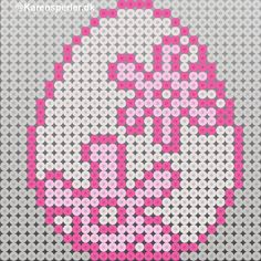 Hama Beads Design, Diy Perler Beads, Melt Beads Patterns, Beading Patterns, Easter Egg Pattern, Melting Beads, Fuse Beads, Brick Stitch, Easter Crafts