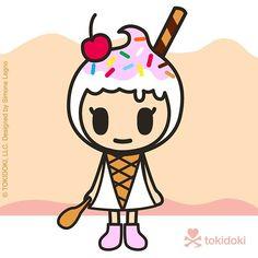 #Donutella has a new sweet friend...happy to introduce Amarena.  #Tokidoki @tokidokibrand #kawaii #sweet #gelato #icecream #dessert #foodart #cute #popculture #vector #vectorart #design #characterdesign #character #cartoon