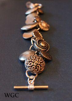vintage button bracelet tutorial