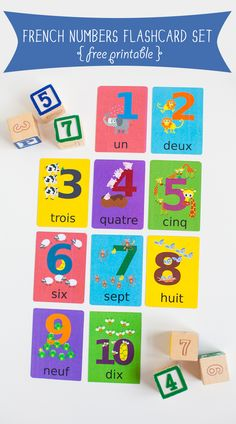 Gus on the Go French Numbers Flashcard Printable