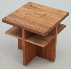 Axel Einar Hjorth; Pine 'Lovö' Occasional Table for Nordiska Kompaniet, 1930s.
