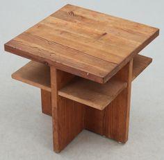 Axel Einar Hjorth; Pine 'Lovö' Occasional Table for Nordiska Kompaniet, 1930s.