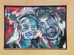 Art by Ramiro Ordonez, Acrylic Paint portrait,Love