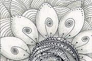 Zentangle Art - Flower Power by Shannon Story