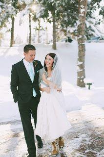 Winter Wedding - Bride in Boots