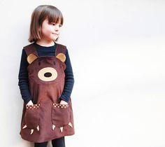 Teddy bear girls play dress by wild things funky little dresses