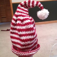 A cute hat I learned to knit.