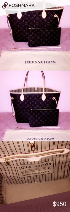 346b0f6666e Louis Vuitton Neverfull MM This is the Louis Vuitton Neverfull MM with the  classic monogram canvas