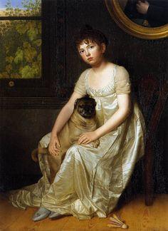 Portrait of Sylvie de la Rue, 1810, François van der Donckt