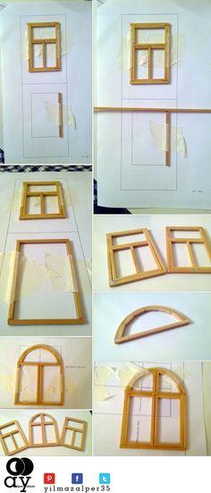 Maket ev penceresi nasıl yapılır?