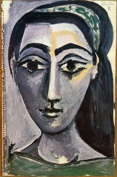 "Pablo Picasso - ""Head of a Woman"", 1962:"