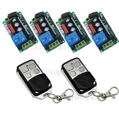 RF Wireless Remote Control Switch System 4Receiver /switch &2Transmitter 220V 10A 1CH Output Way Adjustable #Affiliate