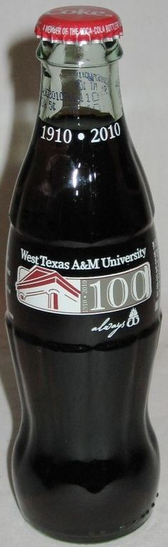Coca-Cola West Texas A&M University 100th Anniversary COKE Bottle Always WT  #CocaCola