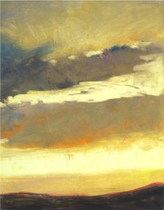 """""""Cloud Fragment"""" by Colorado artist Ken Elliot, who works in oil, pastel, monotypes and collage."""