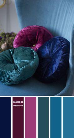 Color Schemes Colour Palettes, Colour Pallette, Color Combos, Winter Colour Palette, Purple Color Schemes, Jewel Tone Colors, Jewel Tones, Jewel Tone Room, Color Tones