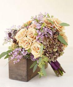 Purple Wedding Flowers the-beginning