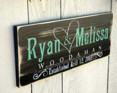 Personalized Family Established Sign Custom by RusticaHomeDecor